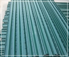 Green Vinyl Coated Fence Posts